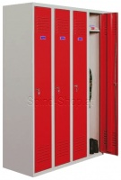 Spind, Stahlspind, Kleiderspind, Umkleideschrank mit 4 Abteilen, B1.200mm