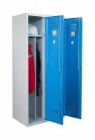 Eco-Line Umkleideschrank, Kleiderspind mit Trennwand, 2 Abteile, 2-türig, B800mm