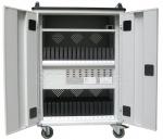 Tablet-PC-Schrank, Tablet-PC-Wagen mit USB-ladegerät funktion für bis zu 32 Tablet-PCs, Handys, Smartphones