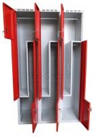 Z-Spind, Z-Garderobenschrank, 6-türig, 1.200 mm breit